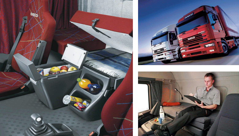 依维柯FH系列搭载英得尔定制车载冰箱