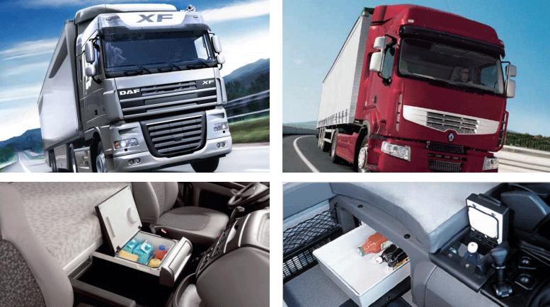 DAF达夫XF系列、雷诺RX、RM系列搭载英得尔定制车载冰箱